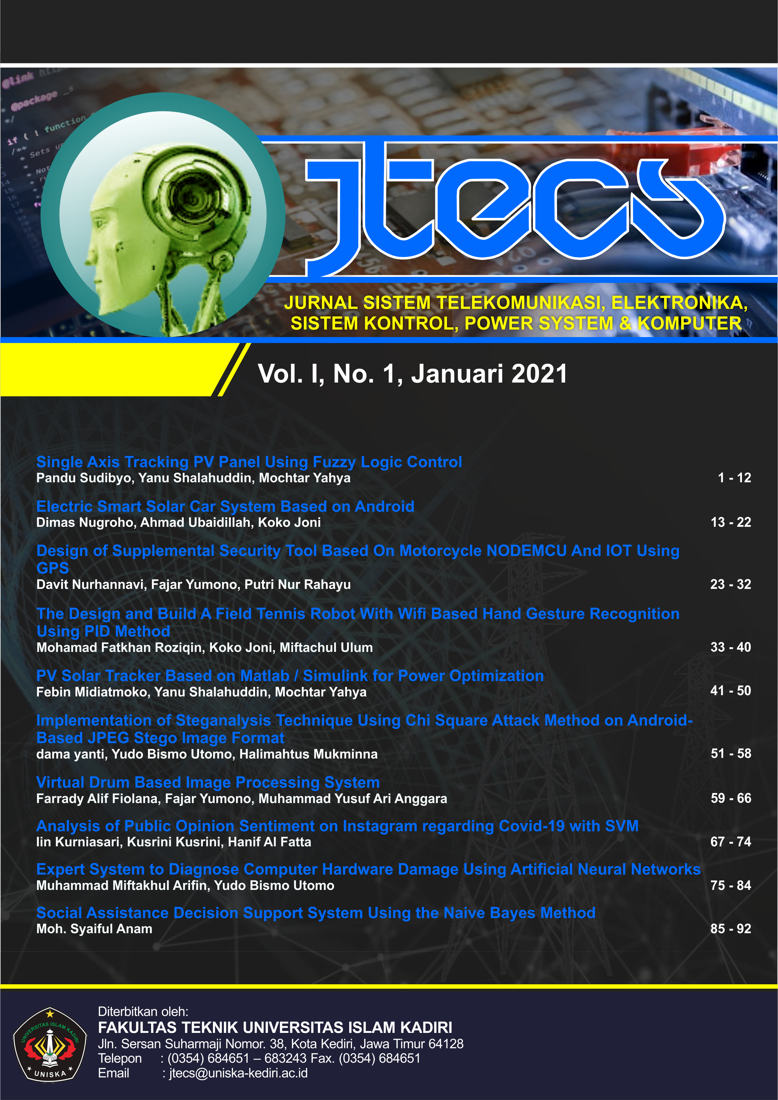 JTECS: Volume I, No 1, Januari 2021